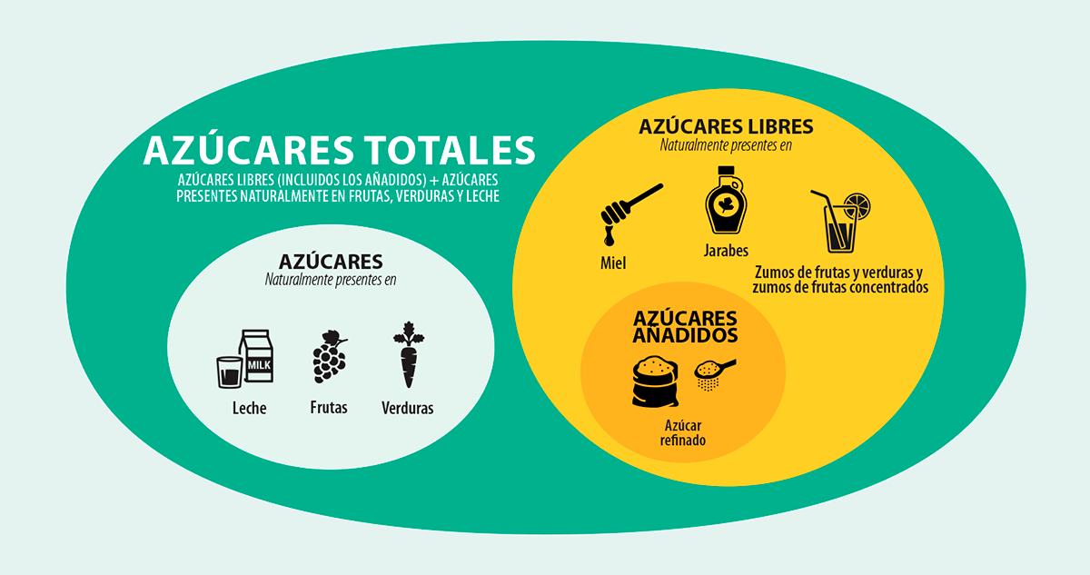 Grafico: Categorías y subcategorías de azúcares alimentarios
